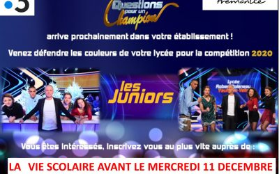 Question pour un champion Junior