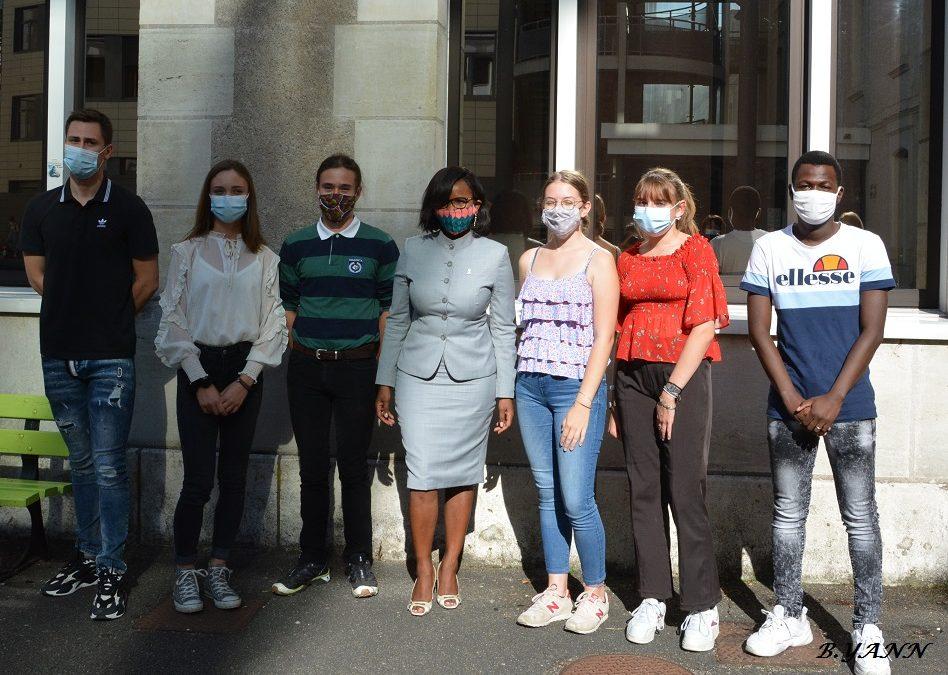 le lycée Descartes a reçu la visite d'Elisabeth Moreno, Ministre déléguée auprès du Premier Ministre, chargée de l'Égalité entre les femmes et les hommes, de la Diversité et de l'Égalité des chances